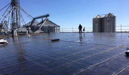 toit plat de membrane en banlieue de Montréal